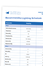 Recommended Lighting Schedule