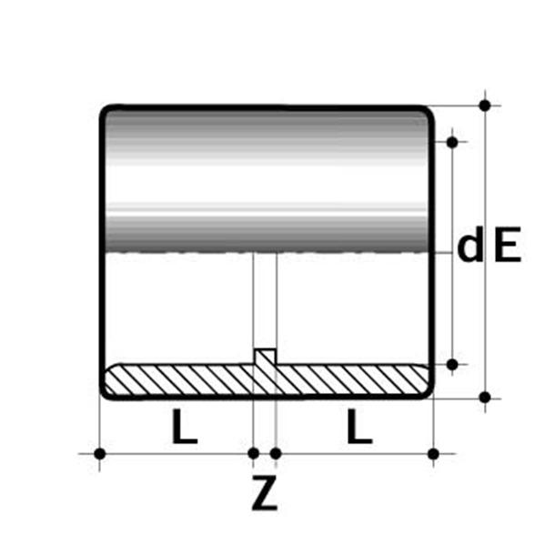 PVC-U Straight Socket