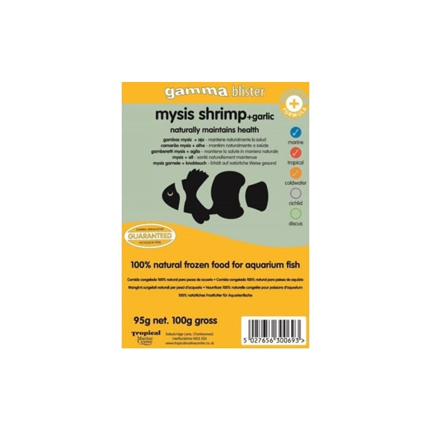 Gamma Mysis Shrimp + Garlic Blister Pack 100g