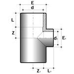 PVC-U Reducing T Piece